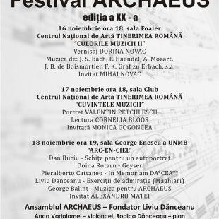 (Română) FESTIVALUL ARCHAEUS 2018 – EDITIA XX