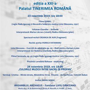 (Română) FESTIVALUL ARCHAEUS EDIȚIA  XXI – 2019 LA PALATUL TINERIMEA ROMANA
