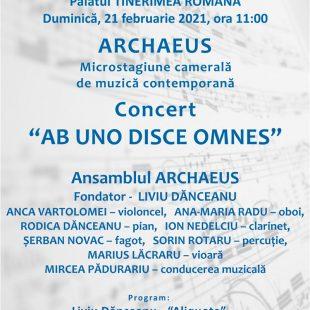 (Română) Concert Archaeus  – Duminica 21 februarie 2021