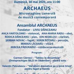 """(Română) ANSAMBLUL ARCHAEUS, CONCERT LA PALATUL """"TINERIMEA ROMANA"""""""