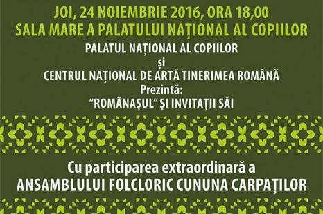 ANSAMBLUL FOLCLORIC CUNUNA CARPATILOR LA PALATUL NATIONAL AL COPIILOR