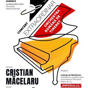 CONCERT LIVE EXTRAORDINAR BEETHOVEN-MOZART CU ORCHESTRA ROMANA DE TINERET SI DIRIJORUL CRISTIAN MACELARU