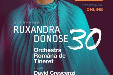 (Română) Gala aniversară Ruxandra Donose – 30 cu Orchestra Română de Tineret