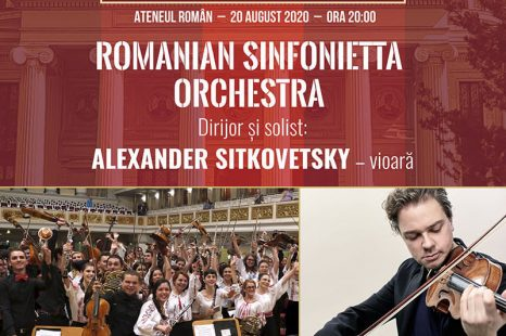 "ROMANIAN SINFONIETTA ORCHESTRA ALATURI DE ALEXANDER SITKOVETSKY  IN CONCERT LA FESTIVALUL ""VARA MAGICA"""